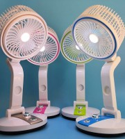 Rechargeable & Foldable Fan with Light