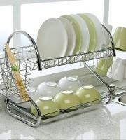2 Layer stainless steel kitchen rack-0006