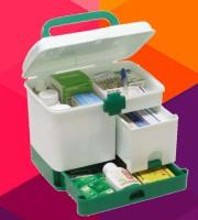 Plastic multi-purpose first aid kit organizer case - 4000