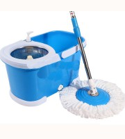 Easy Mop with wheels & stainless steel basket (Blue) - 2511