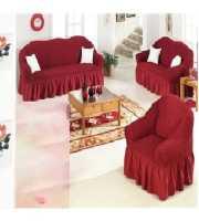 Maroon 3+2+1 Seat's Sofa Cover